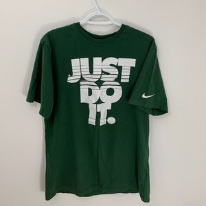 """🟩 Nike """"Just Do It"""" Print Tee (Sz L)"""